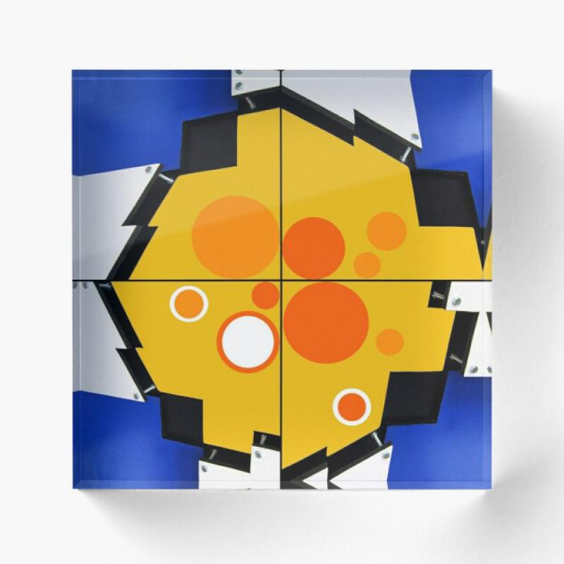 Bloc : Dessin illustration abstrait soleil 1